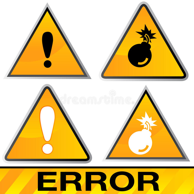 Download Error Icons stock vector. Image of error, beta, mistake - 30685692
