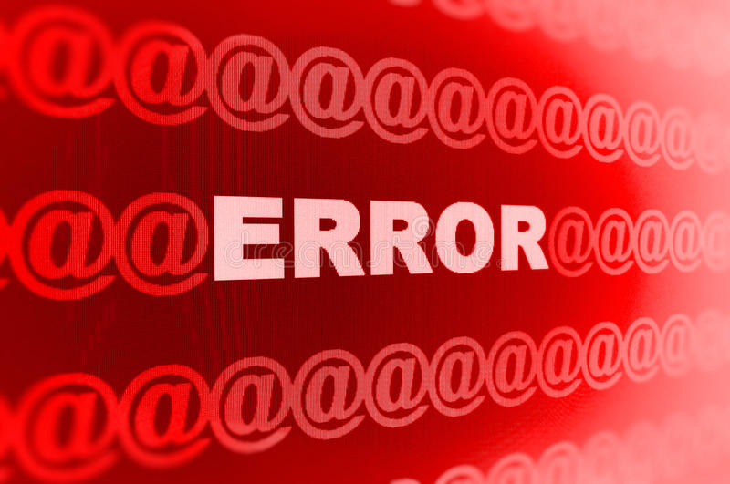 Error Message And @ Symbols Stock Images