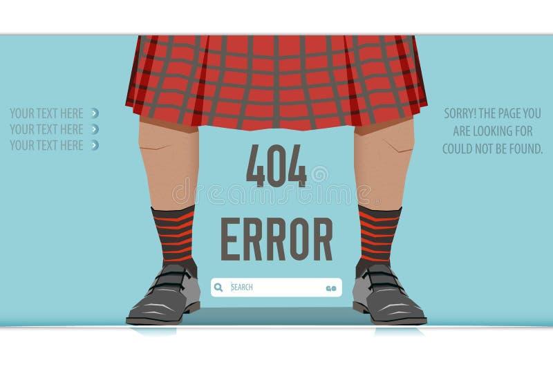 Error no encontrado 404, ejemplo de la página libre illustration