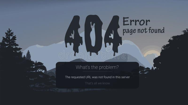 error 404-page con el fondo libre illustration
