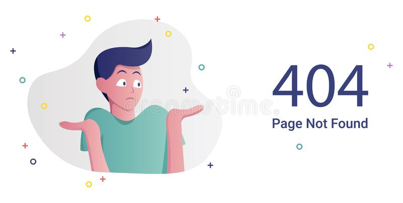 Error Page Not Found stock illustration