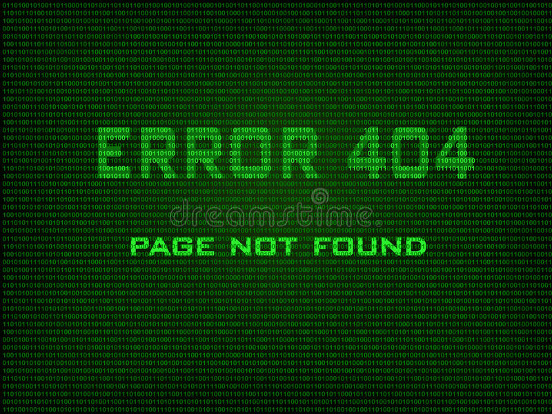 Download Error 404 Page not found stock vector. Image of found - 42460256