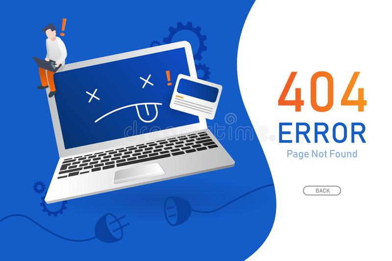 404  error page not found vector with computer or notebook graphic  design template for website background graphic. 404  error page not found vector with vector illustration