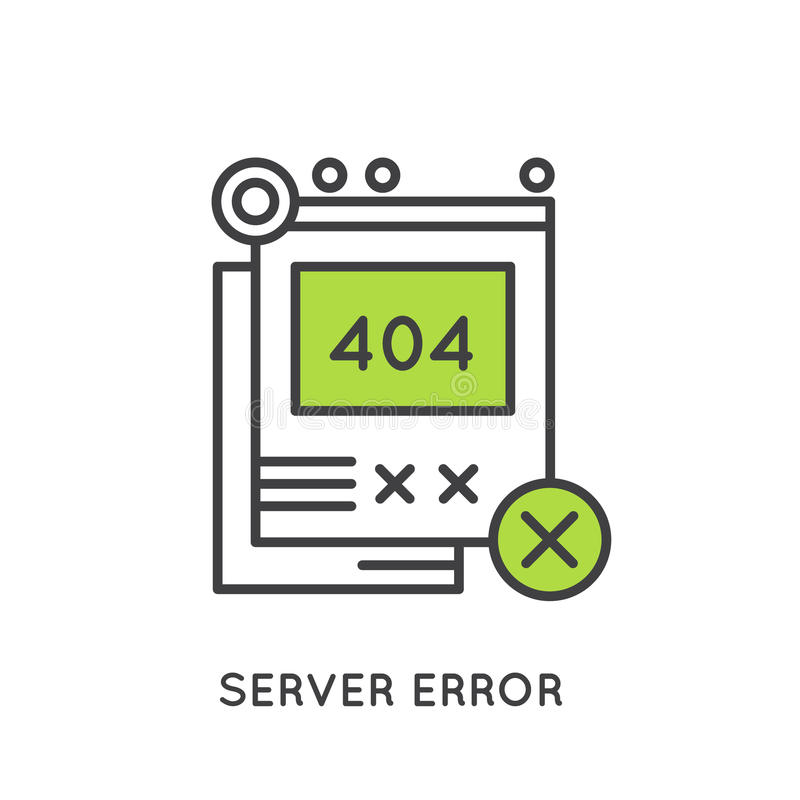Error 404 Page Not Found royalty free illustration
