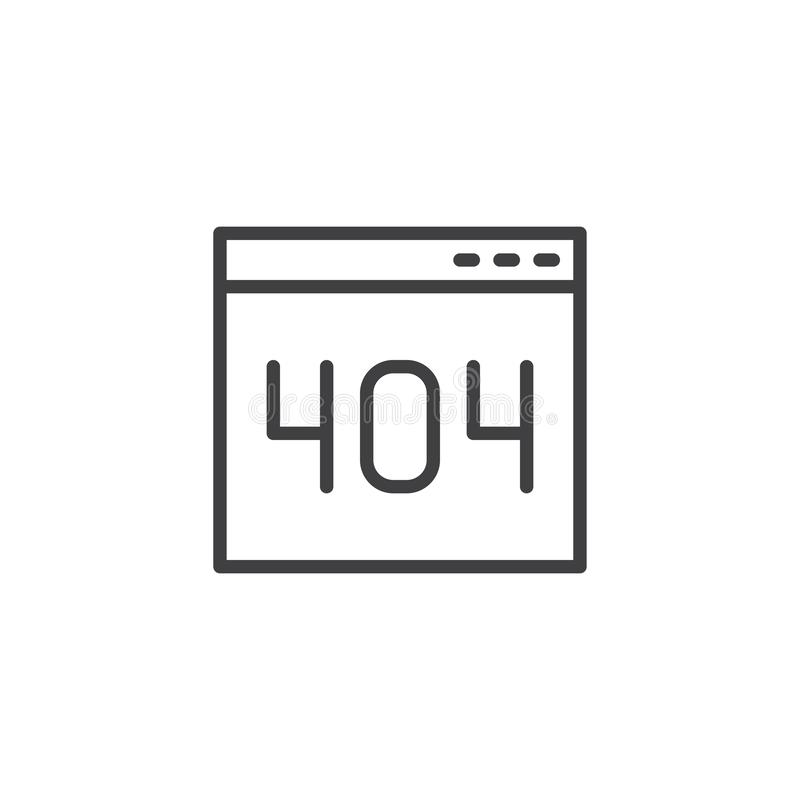 404 error page outline icon royalty free illustration