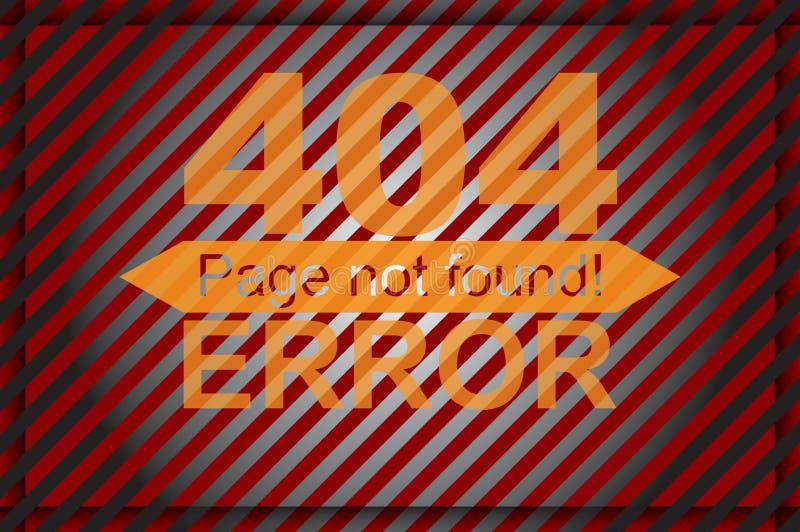 Error page template graphics stock illustration