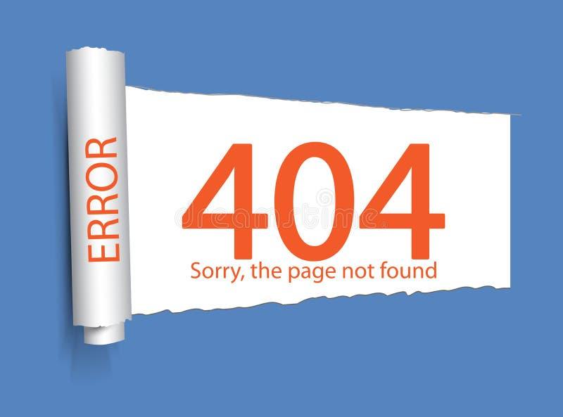Error 404 Paginación no encontrada Fondo abstracto con el connec de la rotura libre illustration