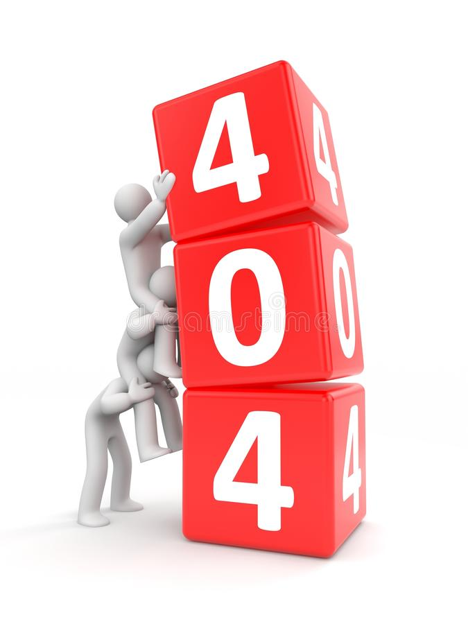 404 error. Teamwork royalty free illustration