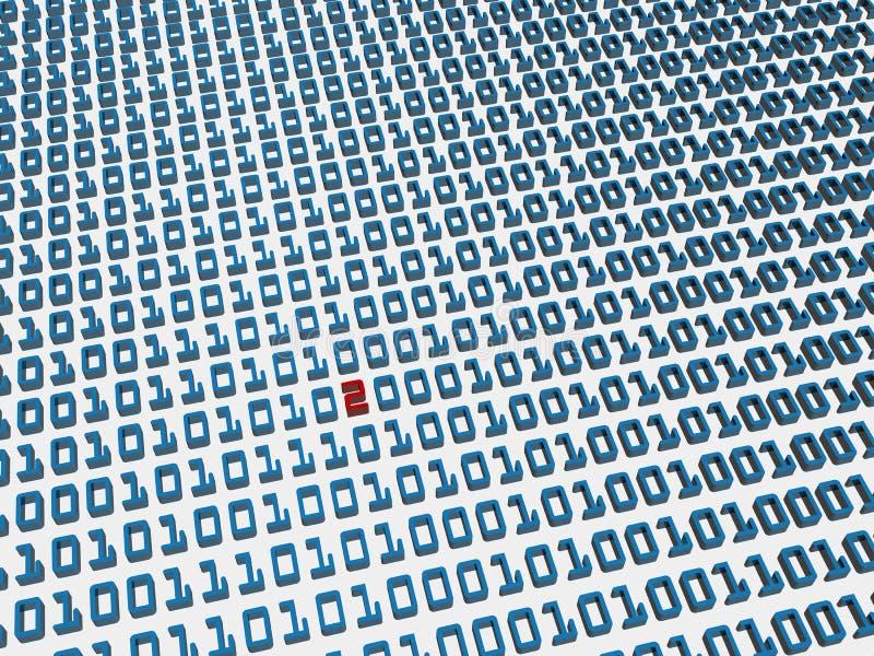 Errore di codice binario illustrazione di stock