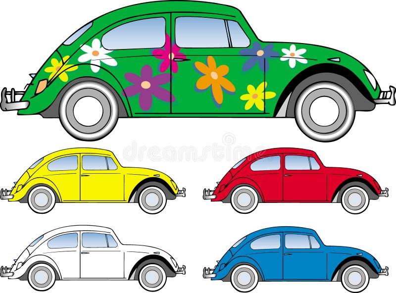 Errore di programma dello scarabeo di Vw illustrazione vettoriale