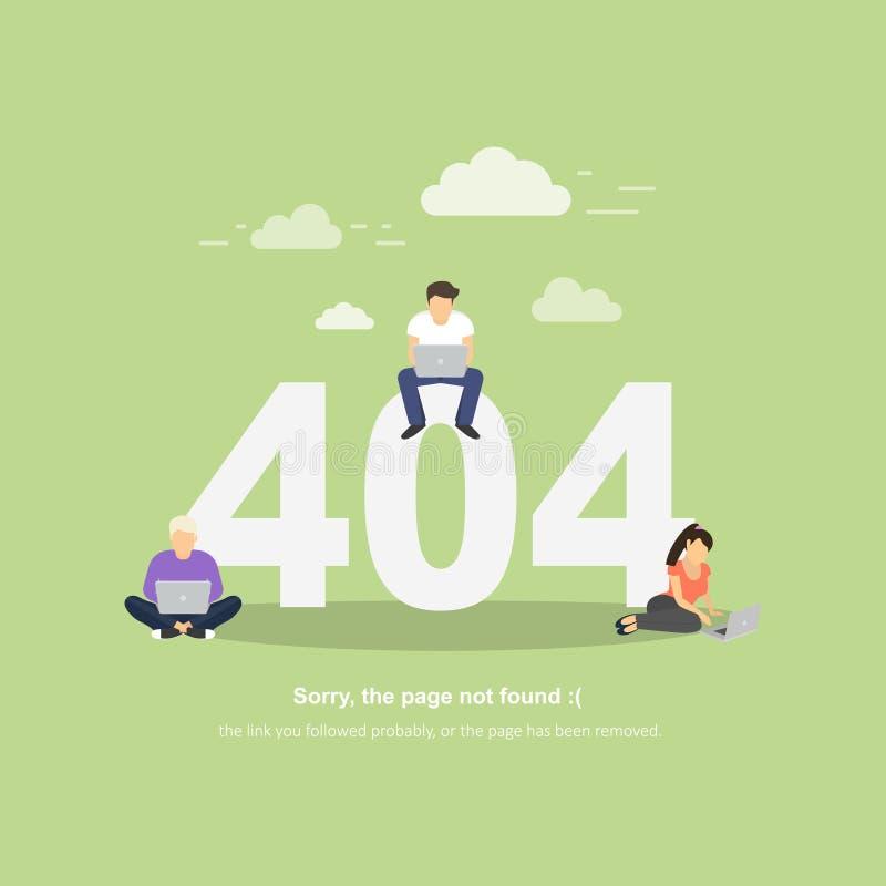 Errore 404, pagina Web non trovata Maschera di vettore illustrazione vettoriale