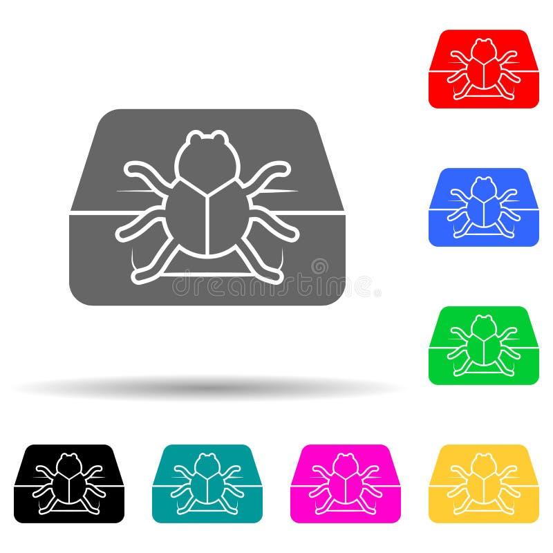 errore sull'icona di stile multicolore del computer glifo semplice, piatto di icone di sicurezza cibernetica per ui e ux, sito we illustrazione vettoriale