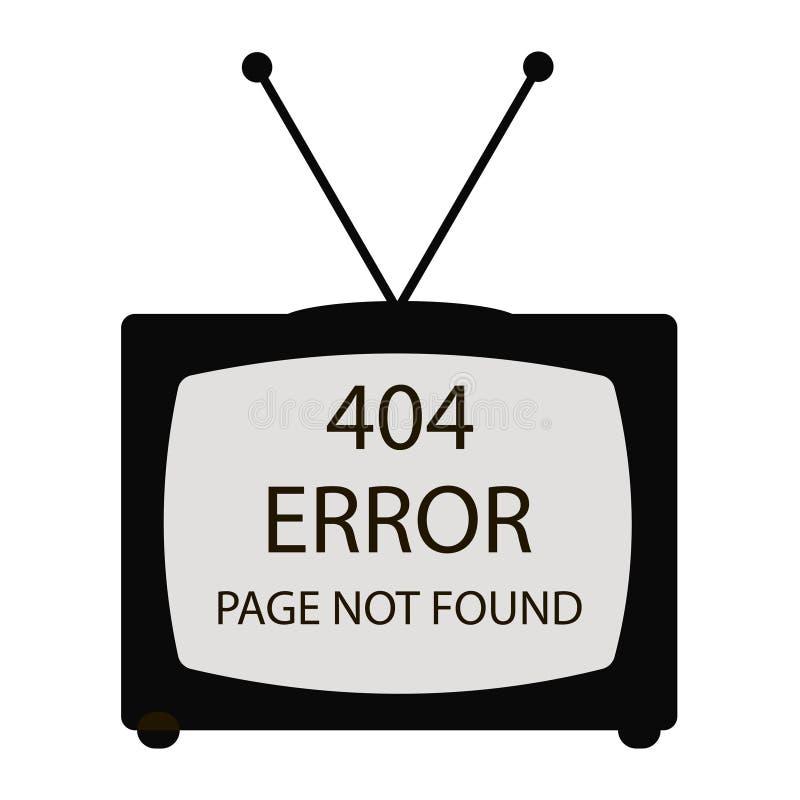 404 errore TV illustrazione di stock