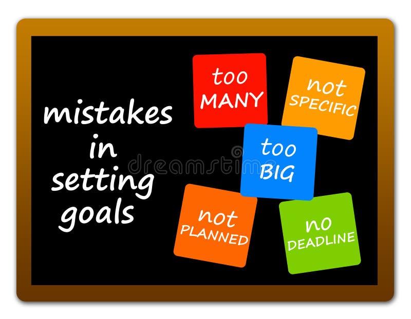 Erros do objetivo ilustração stock