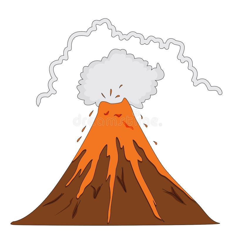 Erruption van de vulkaan vector illustratie