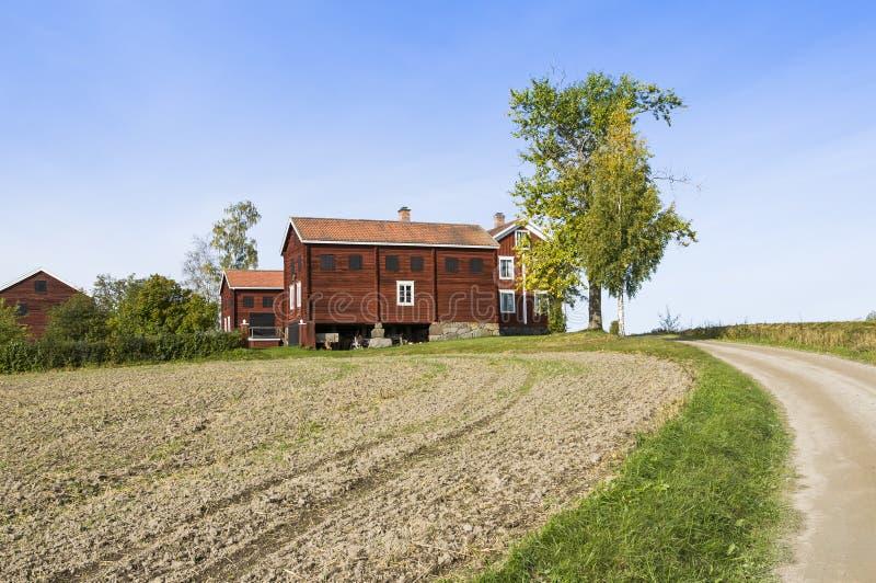 Ers Halsingland Szwecja rolni budynki obrazy royalty free
