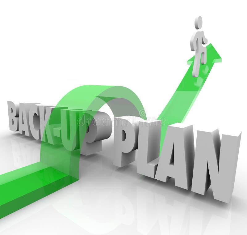 Ersatzplan, der Person Contingency Change Adapt laufen lässt stockbilder