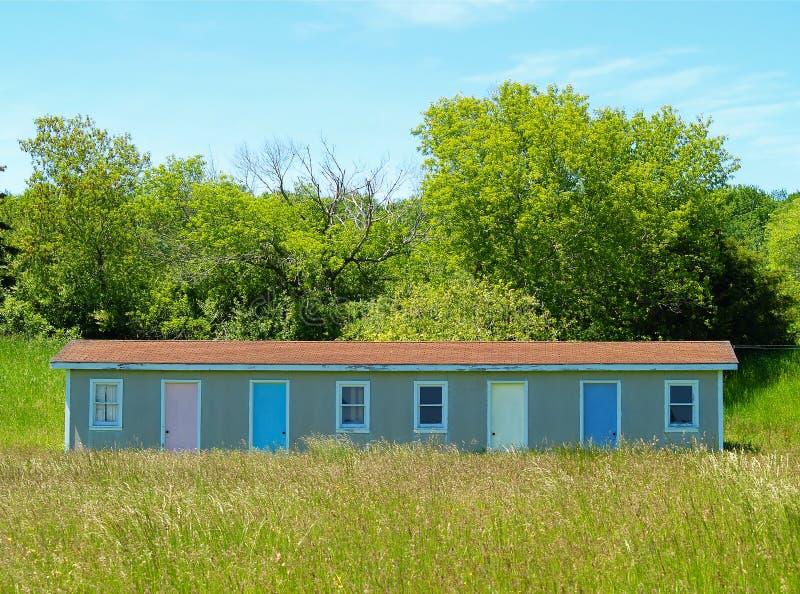 Erschöpftes Motel stockfoto