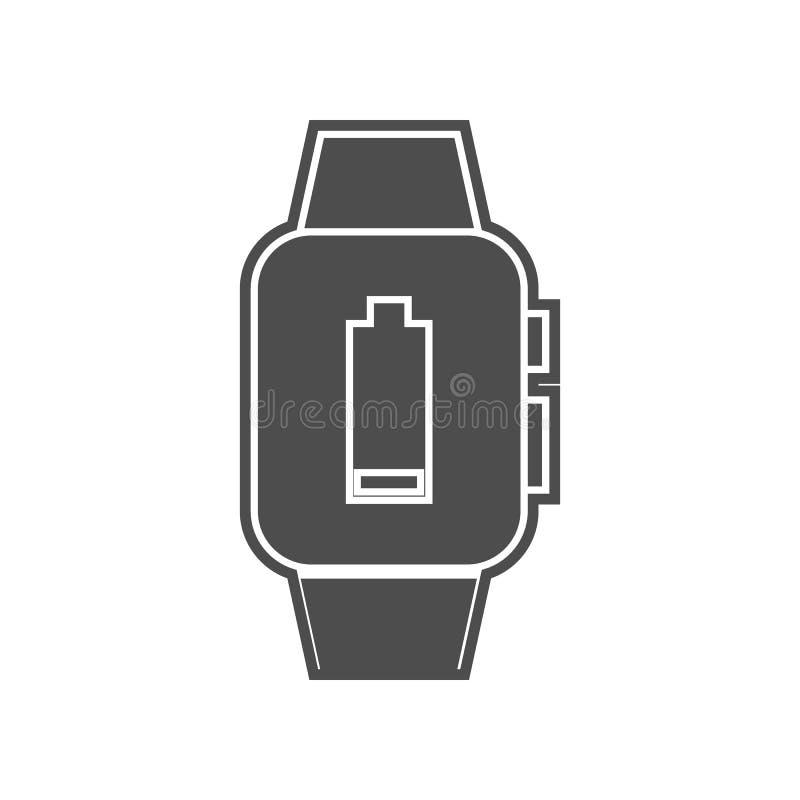 Ersch?tterung auf einer intelligenten Uhrikone Element von minimalistic f?r bewegliches Konzept und Netz Appsikone Glyph, flache  lizenzfreie abbildung