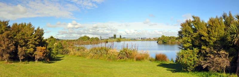 Erscheinen-Panorama Canterbury-A&P, Neuseeland stockfotos