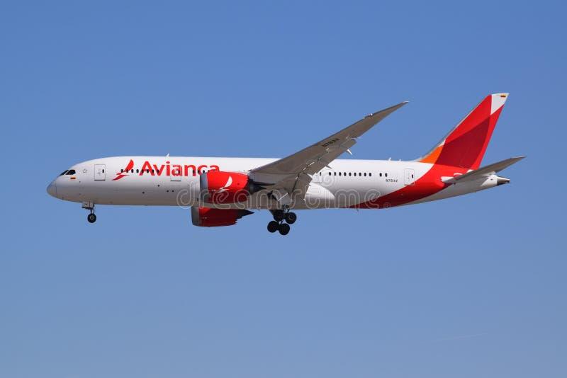 Erscheinungsbild eines Unternehmens Avianca 787 lizenzfreie stockfotografie