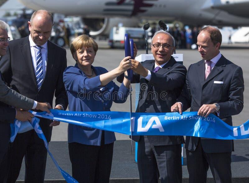 Erschließen Sie die internationale Luftfahrt- und Raumausstellung ILA stockfotos