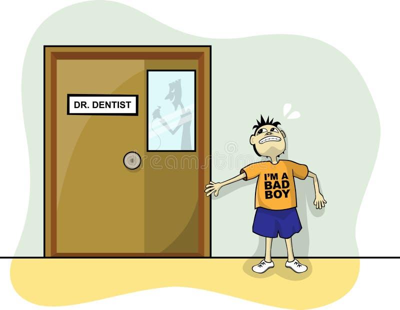 Erschrocken vom Zahnarzt vektor abbildung