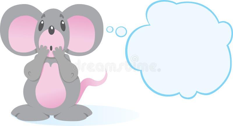 Erschrockene Maus lizenzfreie abbildung