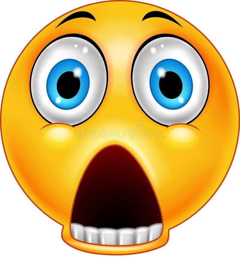 Erschrockener Emoticon mit einem fallengelassenen Kiefer lizenzfreie abbildung