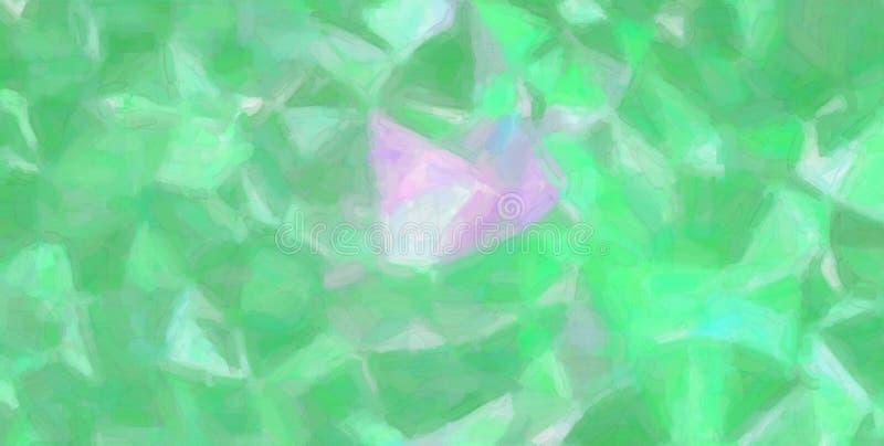 Erstaunliche abstrakte Illustration des grünen und magentaroten Aquarells auf Papierfarbe Guter Hintergrund für Ihre Arbeit lizenzfreie abbildung