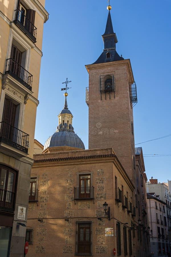 Erstaunliche Ansicht der Kirche von San Gines in der Stadt von Madrid, Spanien stockfotografie