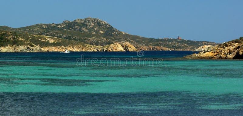 Erstaunliche Ansicht - Malfatano Strand lizenzfreie stockfotos