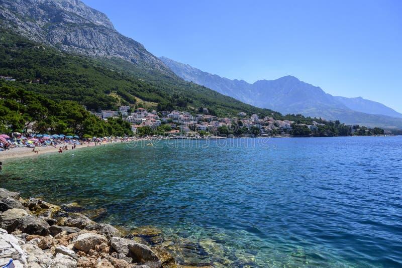 Erstaunliche Ansicht von Brela-Strand, Dalmatien, Kroatien lizenzfreies stockbild