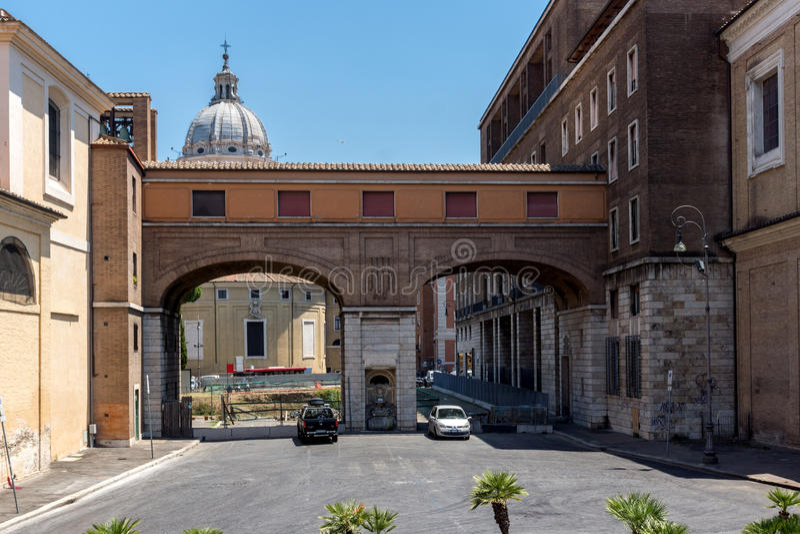 Erstaunliche Ansicht von Chiesa di San Rocco alles Augusteo in Rom, Italien stockbilder