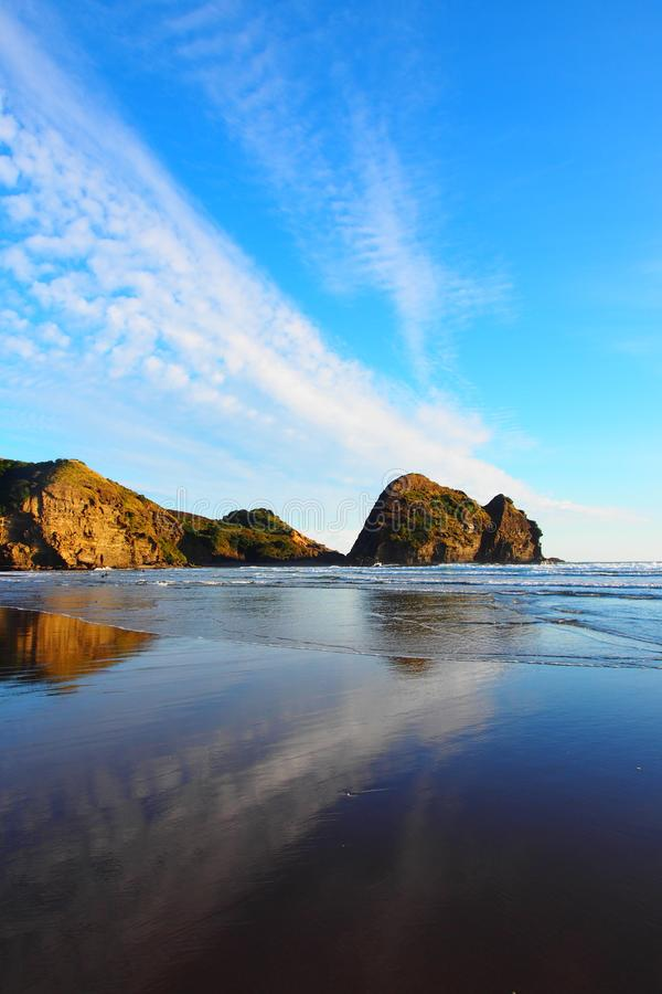 Ansicht Von Piha-Strand, Neuseeland-Nordinsel Stockfoto ...