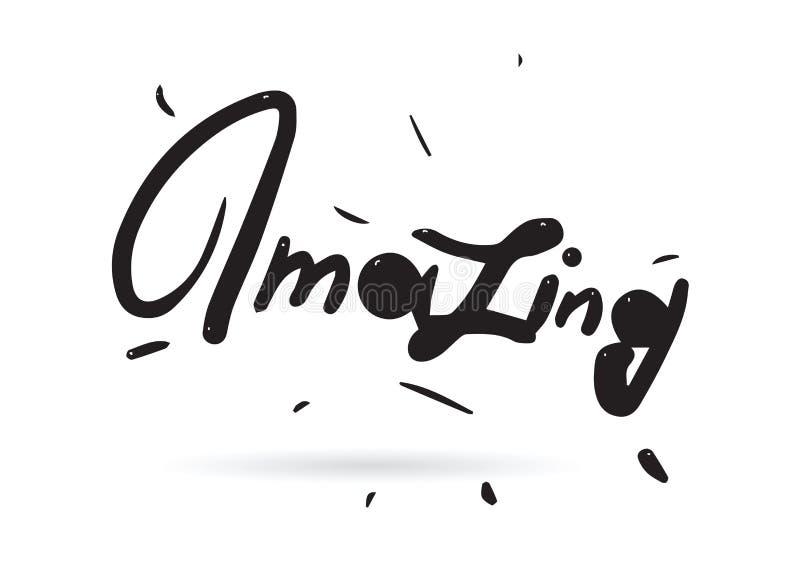 Erstaunliche Aufschrift Nützlich für Schreibköpfe und Werbung Hand gezeichneter Text lizenzfreie abbildung