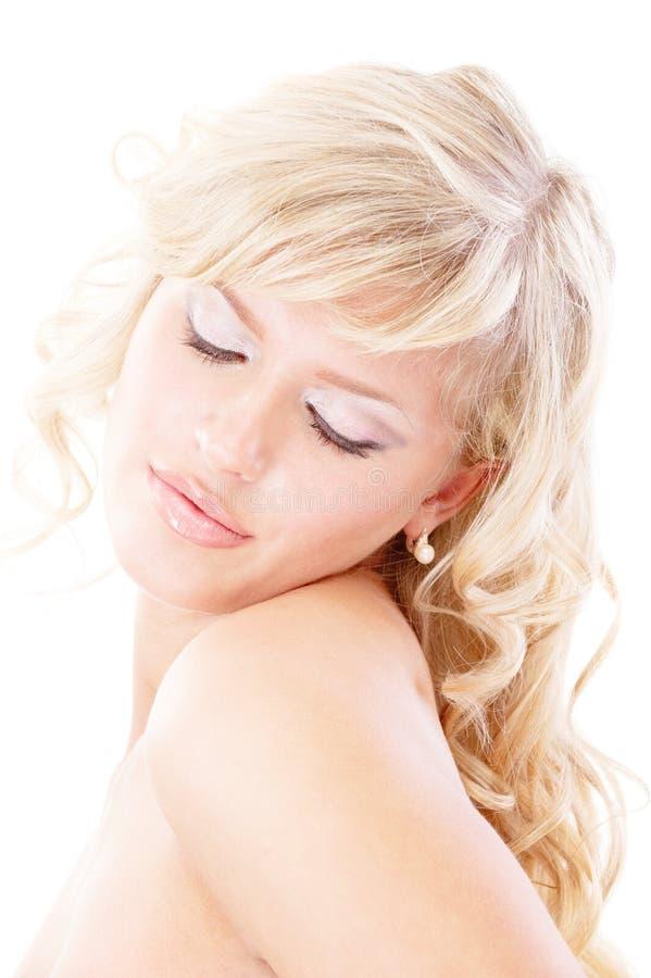 Erstaunliche Blondine blind lizenzfreie stockbilder
