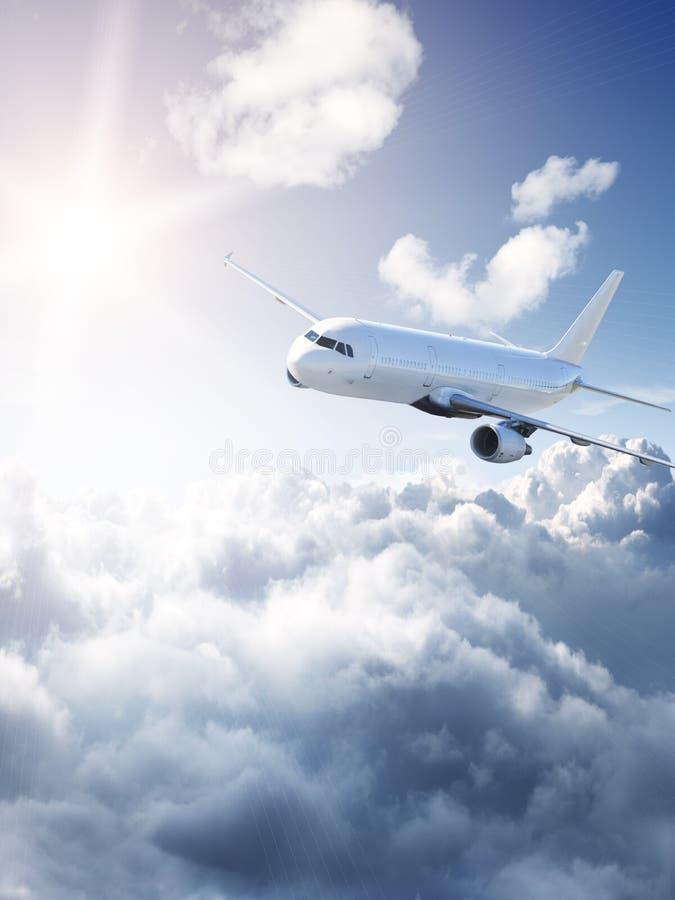 Erstaunliche Flugzeuge im Himmel lizenzfreies stockbild