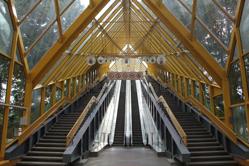 Erstaunliche gelbe Brücke MSC lizenzfreie stockbilder