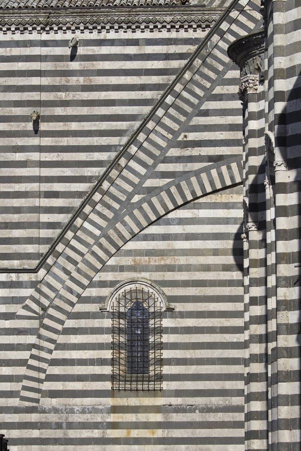Erstaunliche gotische Architektur in Italien stockfotos