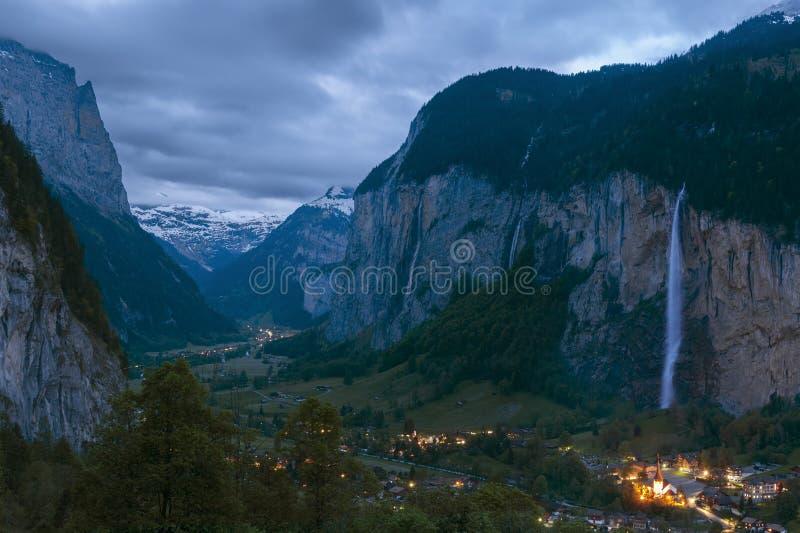 Erstaunliche Landschaft auf Schweizer stockfoto