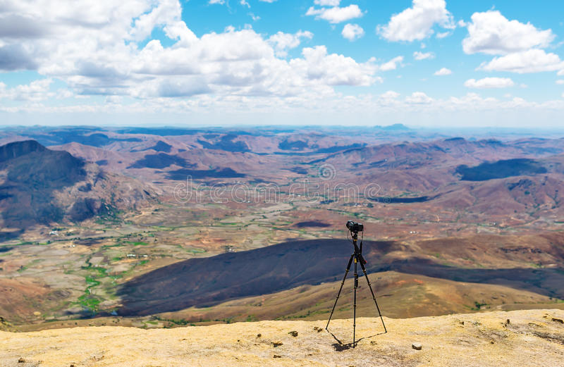 Erstaunliche Landschaft von Madagaskar-Hochländern lizenzfreies stockfoto