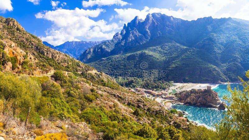 Erstaunliche Landschaften von Korsika stockfotografie
