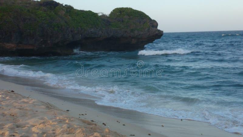 Erstaunliche ruhige Seeansicht Mombasa lizenzfreies stockfoto