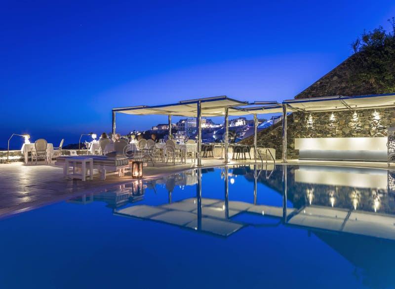Erstaunlicher Außenbereich von einem Luxus-Resort stockfotos