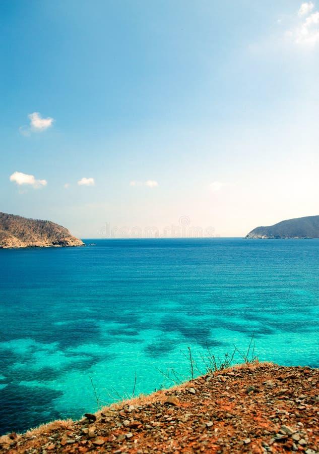 Erstaunlicher Blaufisch Gordo-Strand stockfotografie