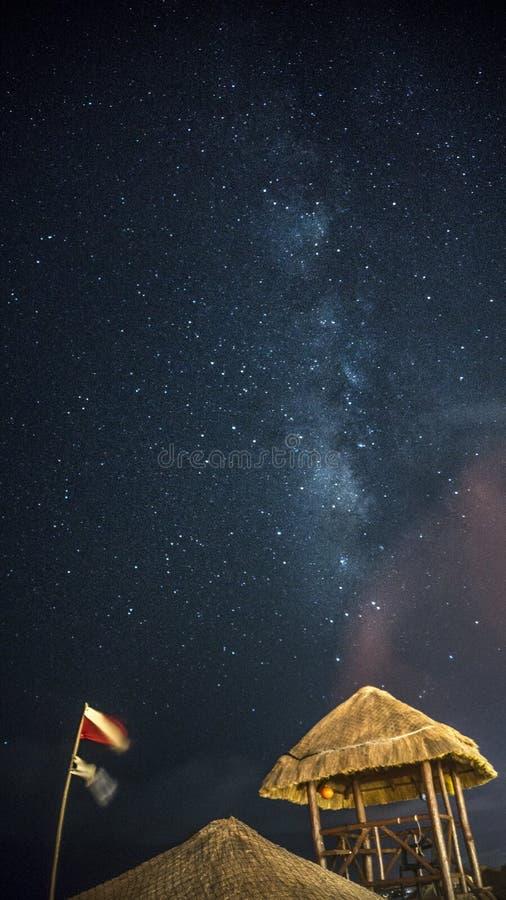 Erstaunlicher Himmel in Messico stockfoto