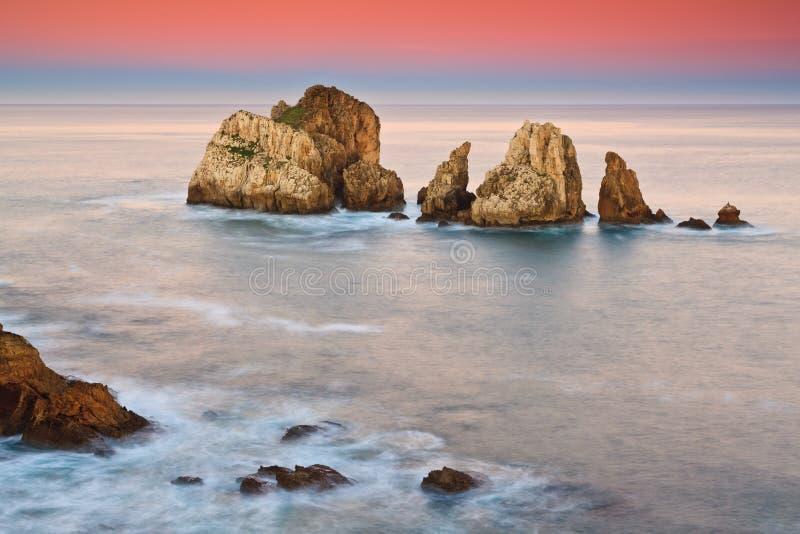 Erstaunlicher Meerblicksonnenaufgang stockbild