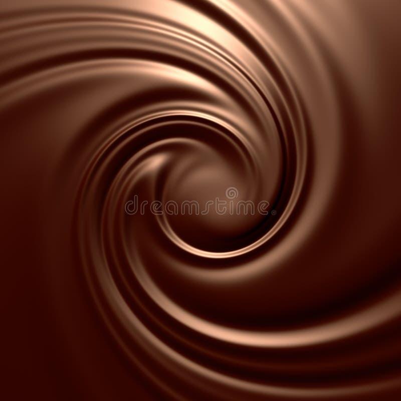 Erstaunlicher Schokoladenstrudel lizenzfreie abbildung