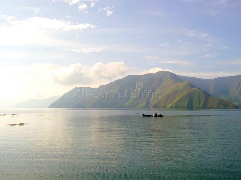 Erstaunlicher See Toba, Nord-Sumatera lizenzfreies stockfoto